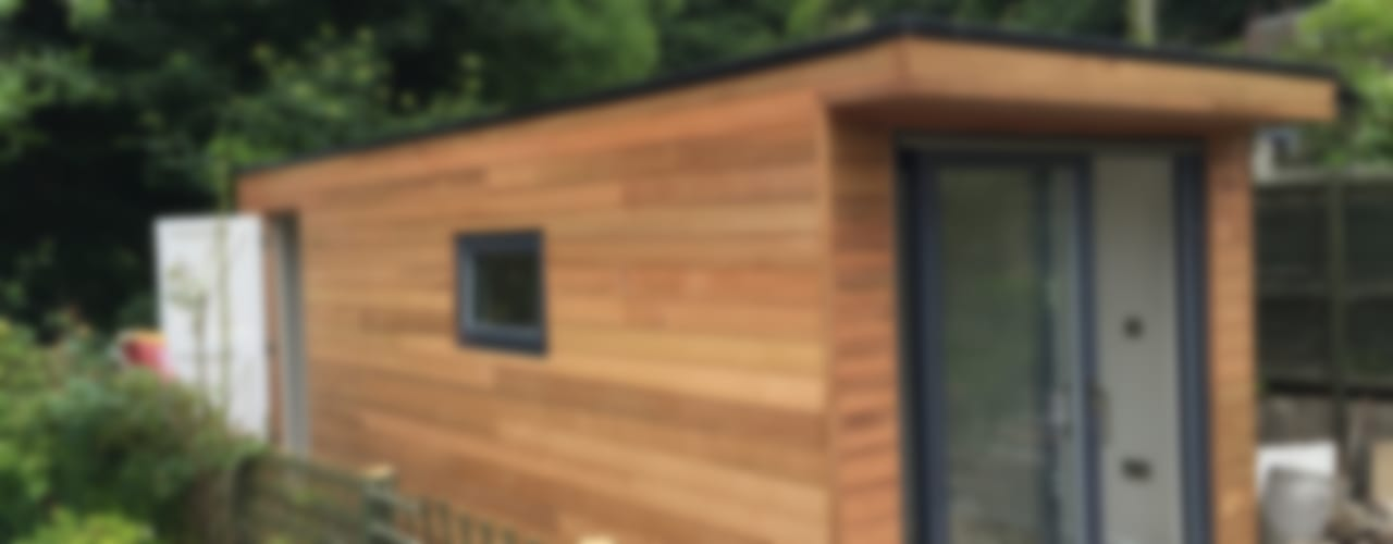 Helston Garden Box with Rear Storage Minimalist garage/shed by Building With Frames Minimalist