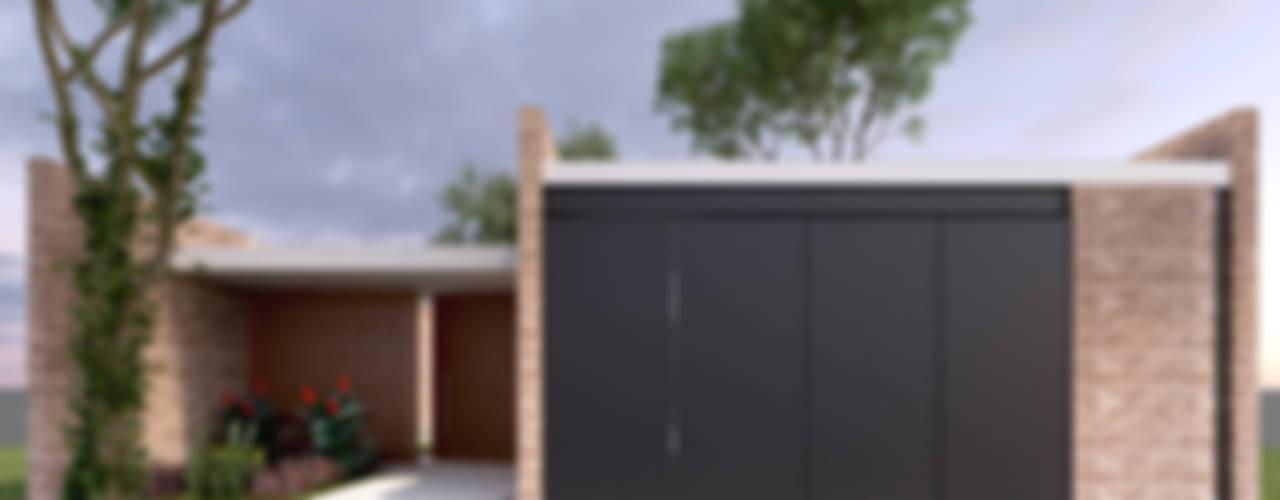 Fachada Principal: Casas de estilo  por EMERGENTE   Arquitectura