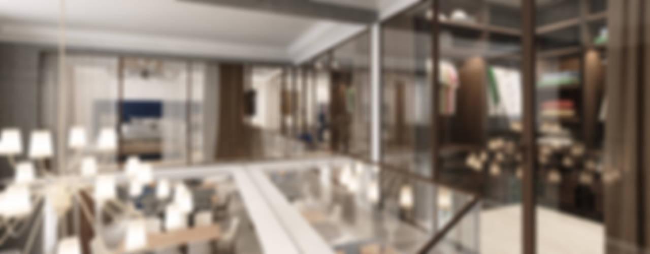 Pasillos y recibidores de estilo  por Студия дизайна интерьера в Москве 'Юдин и Новиков',