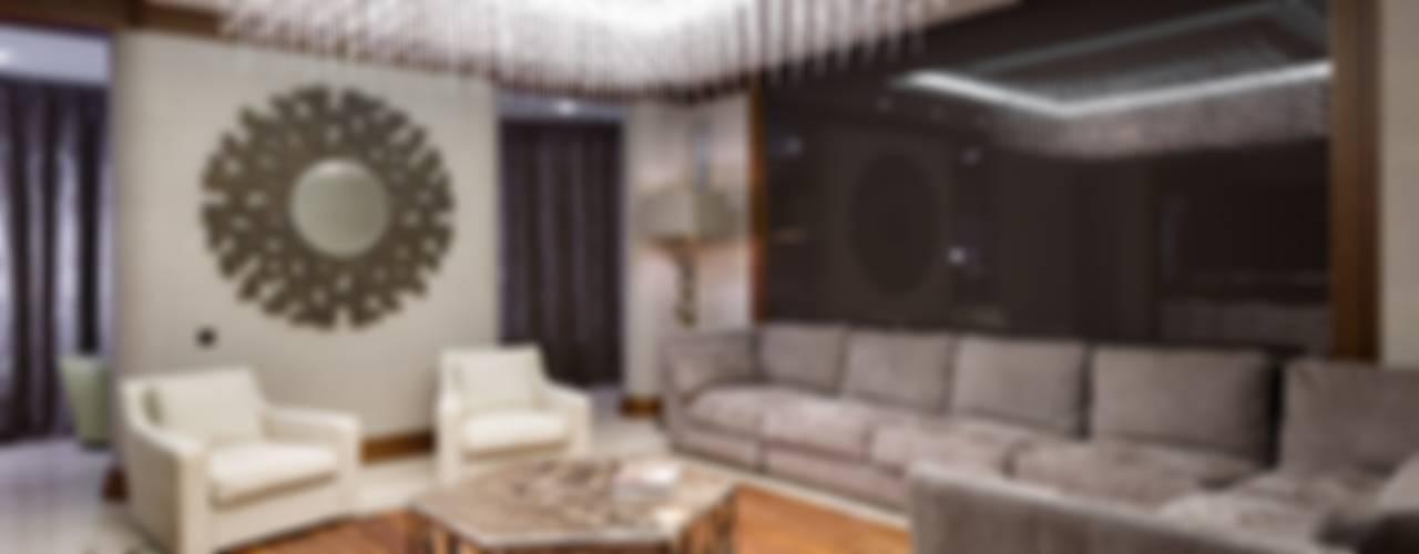 Livings de estilo moderno de Студия дизайна интерьера в Москве 'Юдин и Новиков' Moderno
