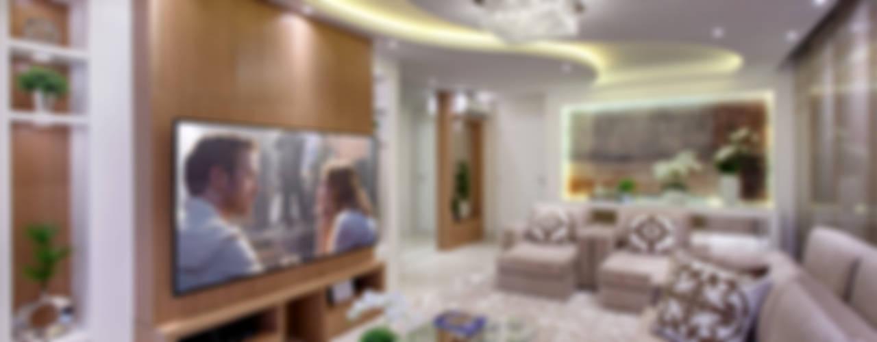 Salas / recibidores de estilo  por Designer de Interiores e Paisagista Iara Kílaris