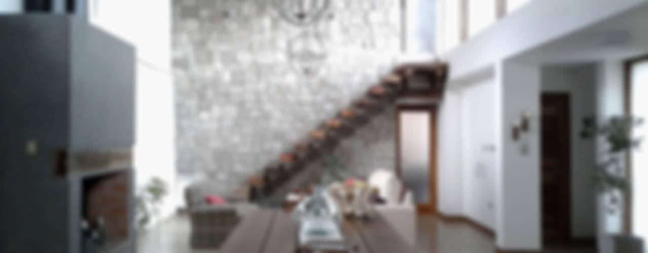 Viviendas Loteo Las Lavandas: Livings de estilo  por Azcona Vega Arquitectos,Moderno