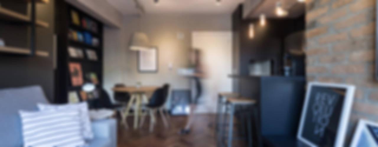 غرفة المعيشة تنفيذ K+S arquitetos associados,