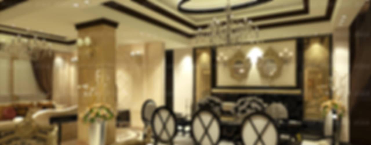 لقطات بسيطة من تصميماتنا الداخلية:  غرفة السفرة تنفيذ EHAF Consulting Engineers