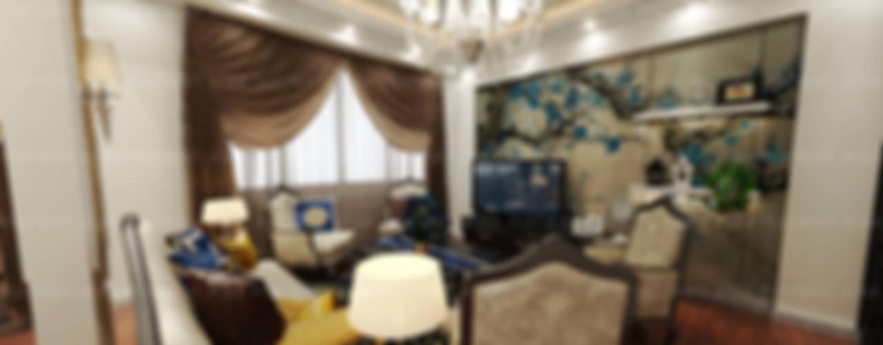 لقطات بسيطة من تصميماتنا الداخلية:  غرفة المعيشة تنفيذ EHAF Consulting Engineers, كلاسيكي
