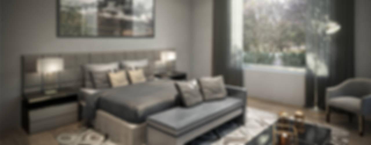 Dormitorios de estilo  por VA STUDIO,