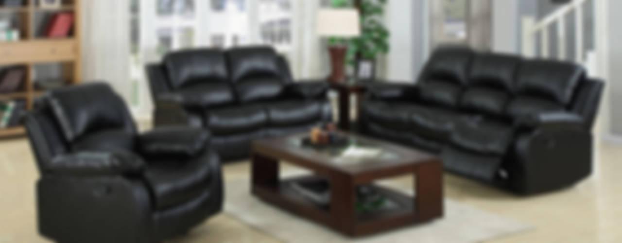 CHINA BUSiiNESS SERVICES Salas multimediaMuebles Cuero Negro