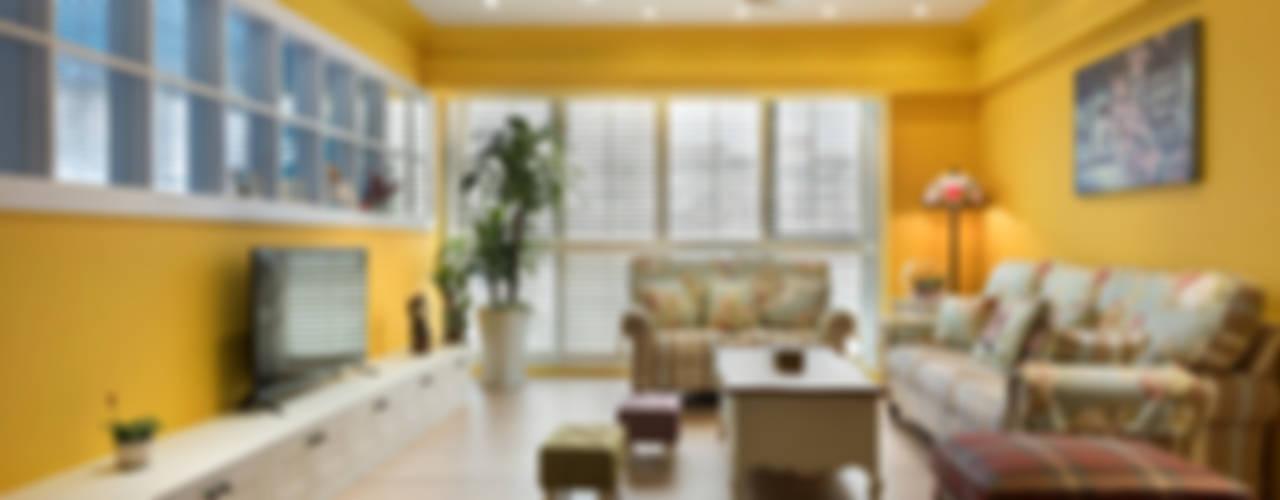 Salon de style  par Glocal Architecture Office (G.A.O) 吳宗憲建築師事務所/安藤國際室內裝修工程有限公司,
