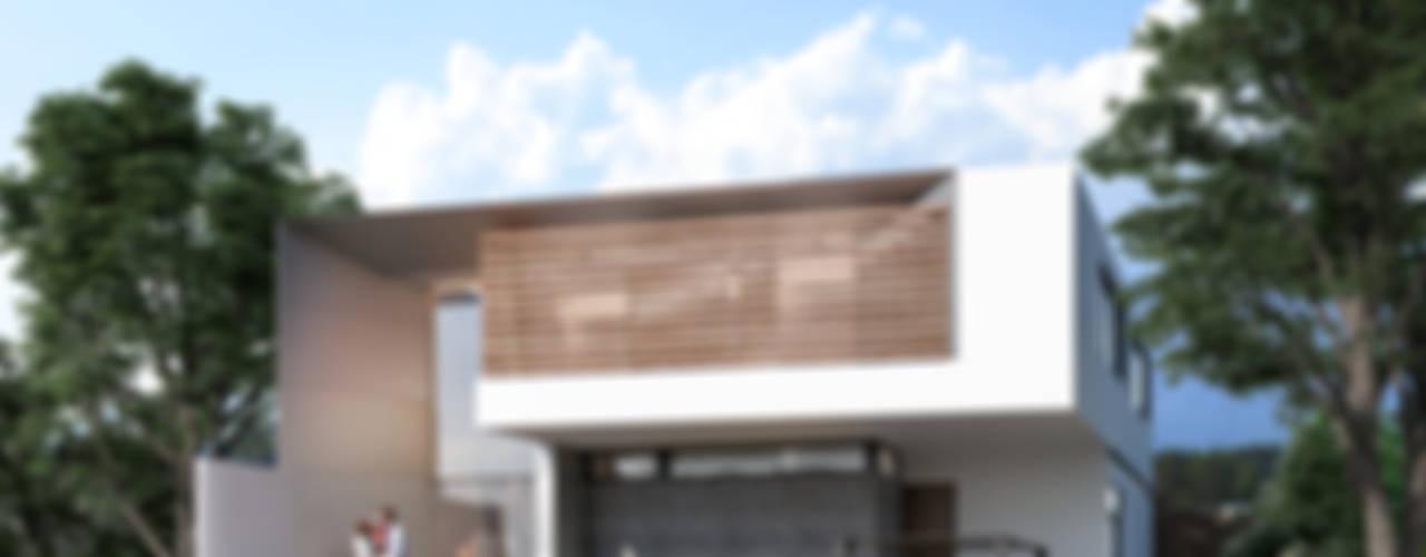 FACHADA PRINCIPAL PROYECTO CASA ZL: Casas de estilo  por ORTHER Architects