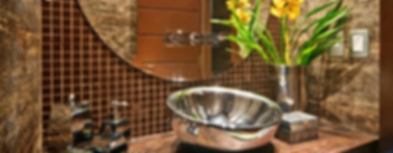 arquiteta aclaene de mello Rustic style bathroom