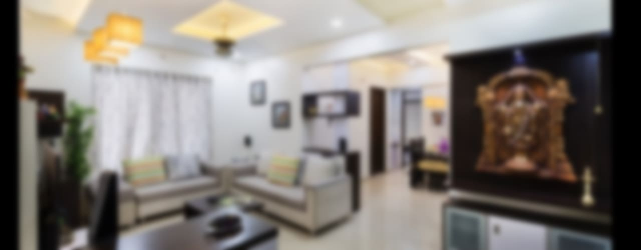 2bhk flat : modern Living room by shubhchintan