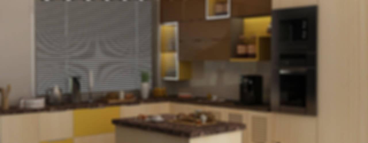 Villa at Jay Pee Greens Greater Noida Modern kitchen by Design Essentials Modern
