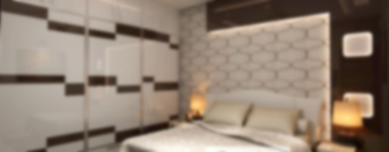 Residence at Rohini, New Delhi Modern style bedroom by Design Essentials Modern