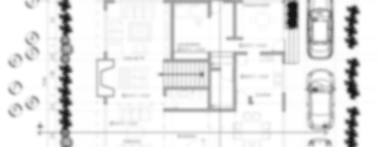 planos arquitectónicos (planta baja) :  de estilo  por Calapiz Arq