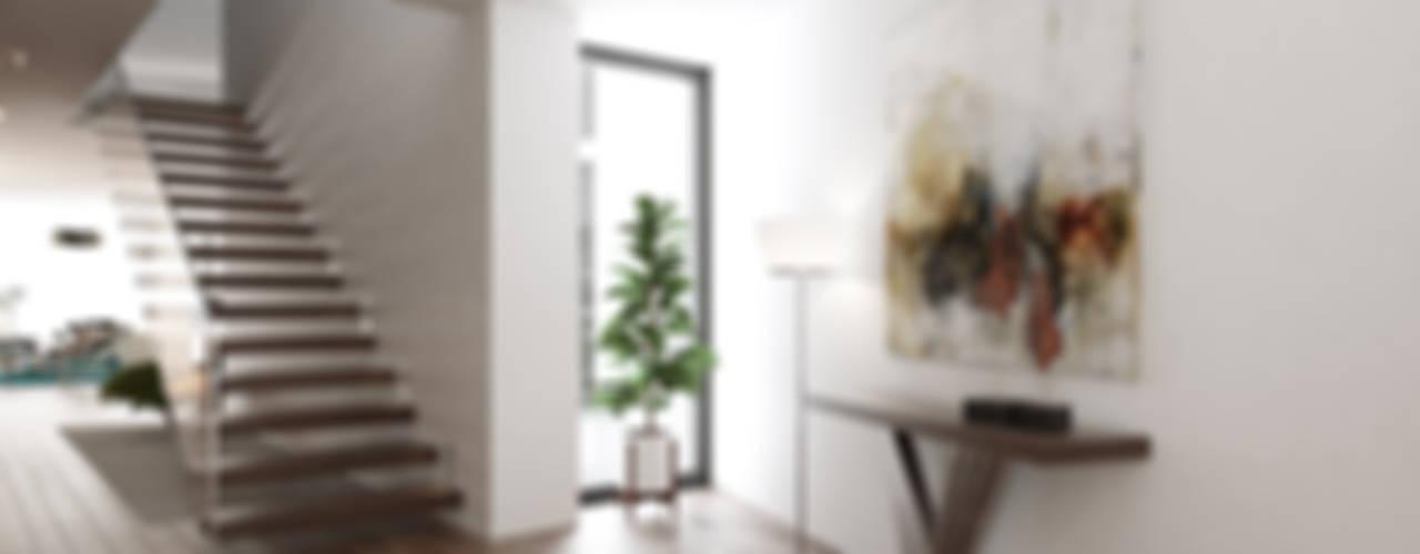 Pasillos y recibidores de estilo  por EsboçoSigma, Lda