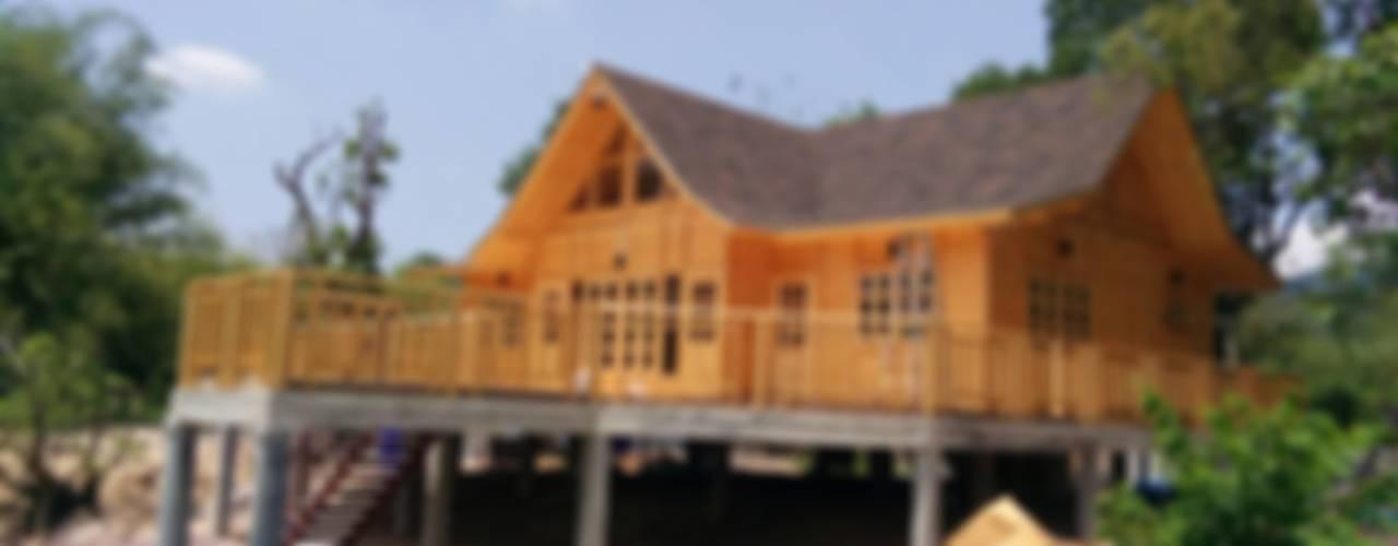 Sukjai Logcabin Partnership Offices & stores Solid Wood Wood effect