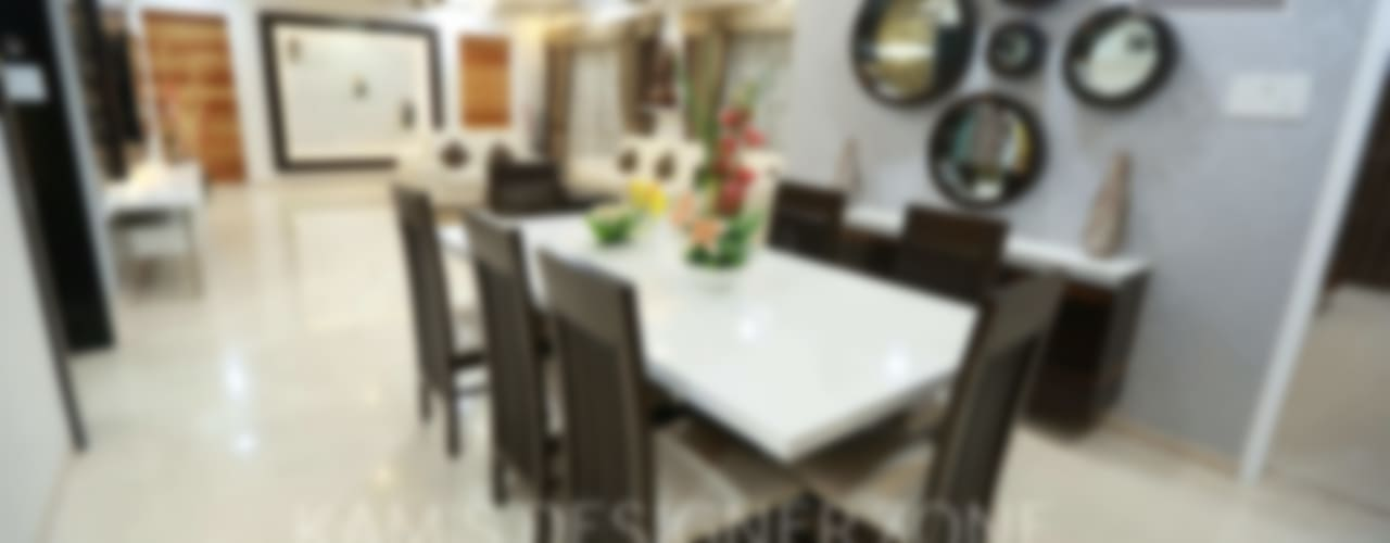 Dinning Area:  Dining room by KAM'S DESIGNER ZONE