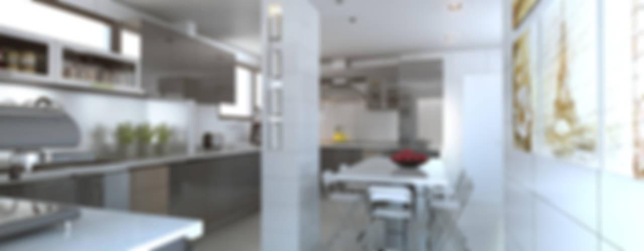 COCINA  PIZARRO- CHICUREO: Cocinas equipadas de estilo  por AOG SPA