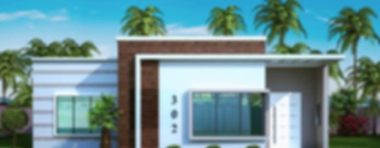 casa x: Casas de estilo  por pia arquitectos