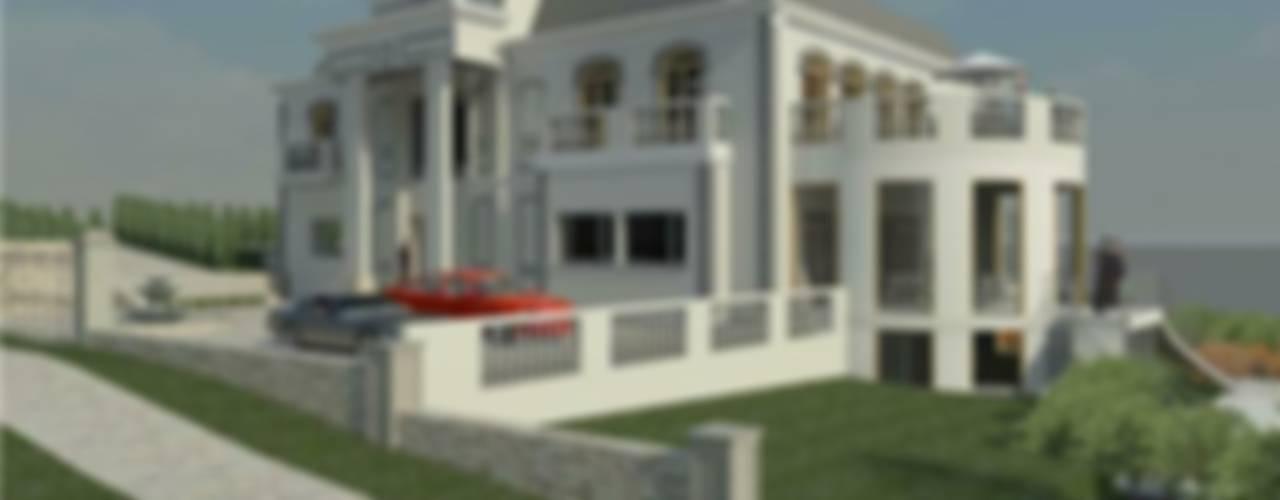 Casa en Valle Escondido, Lo Barnechea:  de estilo  por Arquitectura Amanda Perez Feliú