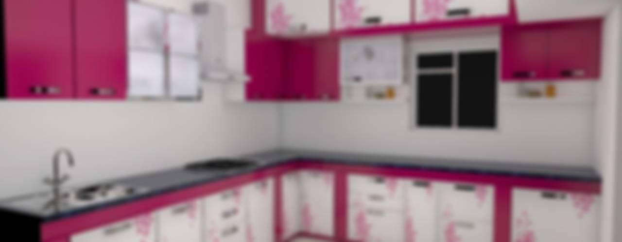 Modular Kitchen:  Built-in kitchens by URBAN HOSPEX INTERIORS