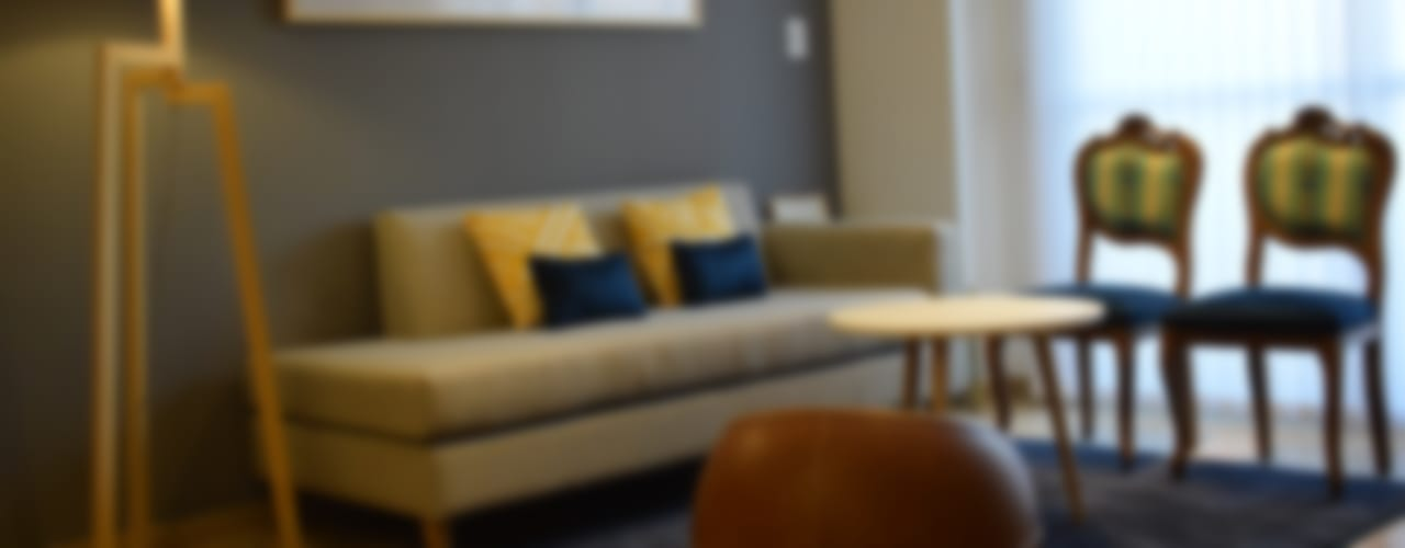 Departamento en Barrio Chateau: Livings de estilo  por Da!  Diseño de  Interiores