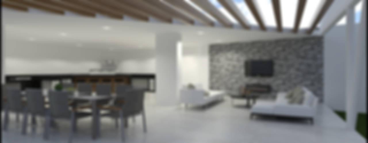 PALAPA: Terrazas de estilo  por SEZIONE