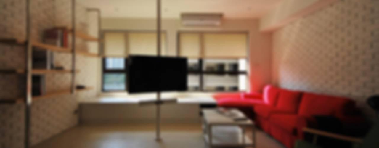 【住宅設計】淡水伊東市 – 26坪美式Loft風格 大觀創境空間設計事務所 客廳