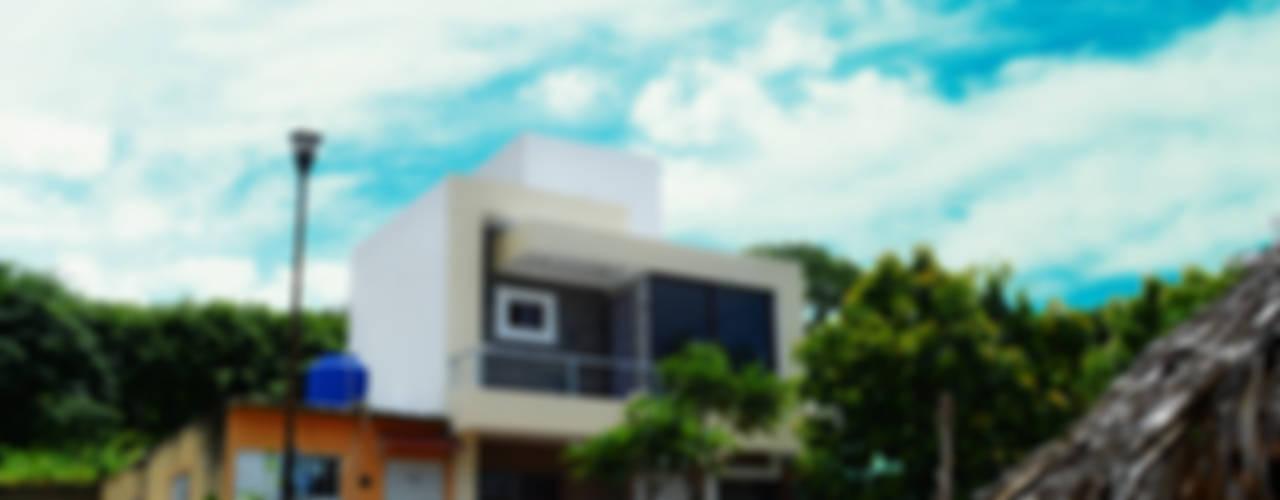 Fachada Frontal: Casas unifamiliares de estilo  por gciEntorno