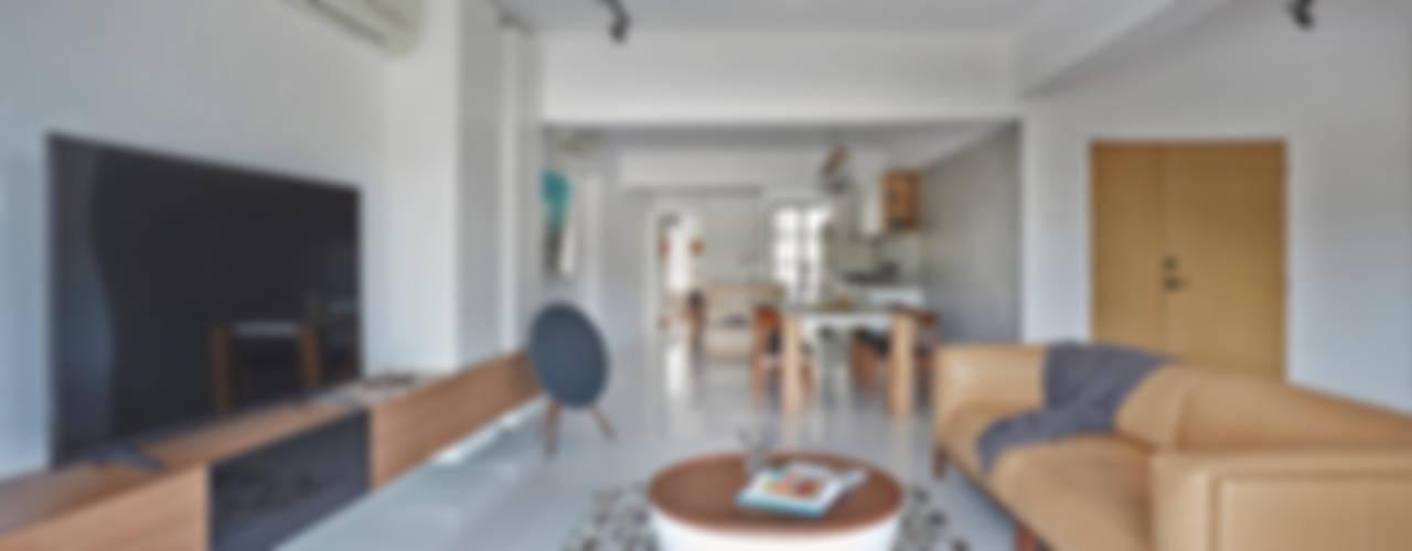 غرفة المعيشة تنفيذ Eightytwo Pte Ltd