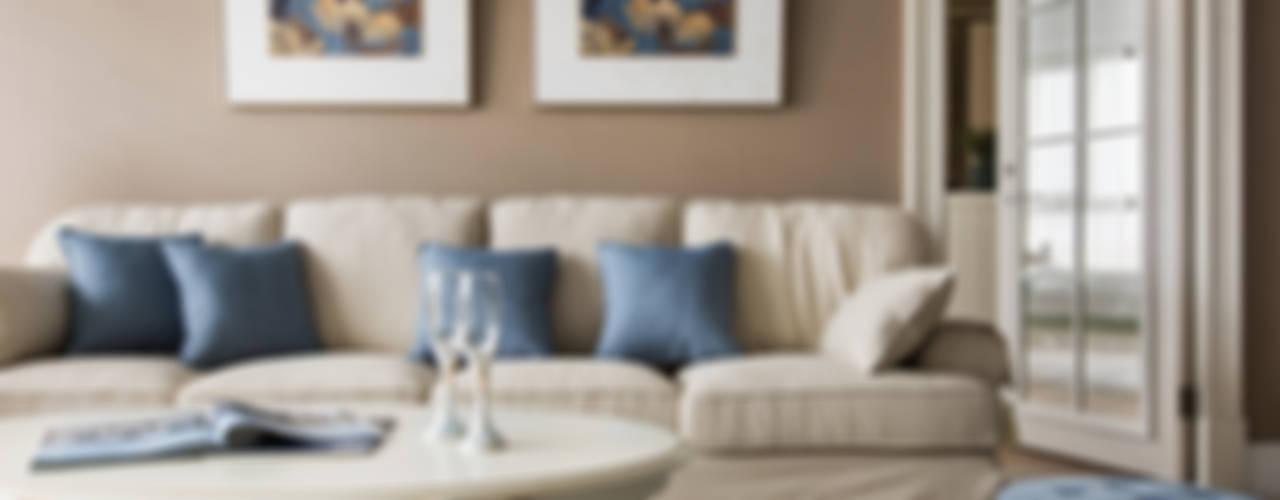 用光譜寫的美式鄉村風:  客廳 by 辰林設計