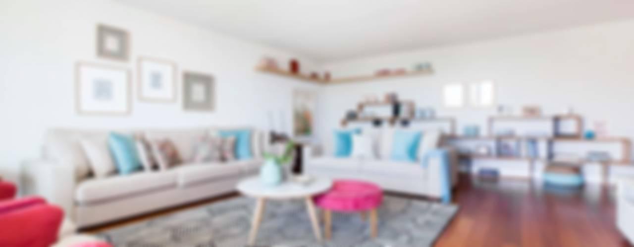 Apartamento Edifício do Parque - T4 MATOSINHOS Salas de estar escandinavas por ShiStudio Interior Design Escandinavo