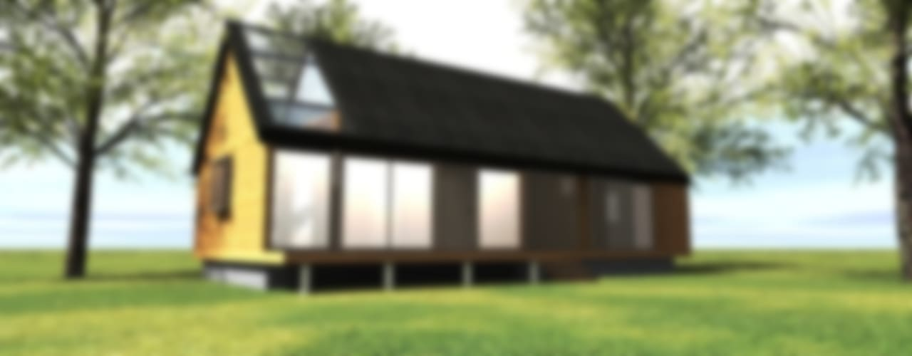 Fachada patio interior: Casas unifamiliares de estilo  por casa rural - Arquitectos en Coyhaique