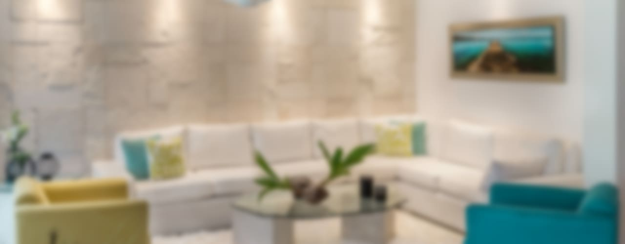Ruang Keluarga Tropis Oleh Art.chitecture, Taller de Arquitectura e Interiorismo 📍 Cancún, México. Tropis