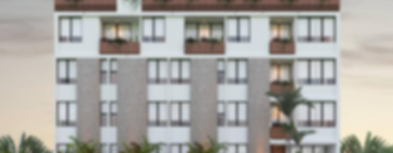 FACHADA PRINCIPAL: Condominios de estilo  por EMERGENTE | Arquitectura