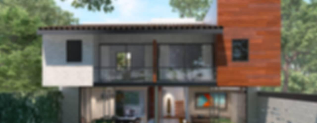 Casa MR 4: Casas unifamiliares de estilo  por Fi Arquitectos