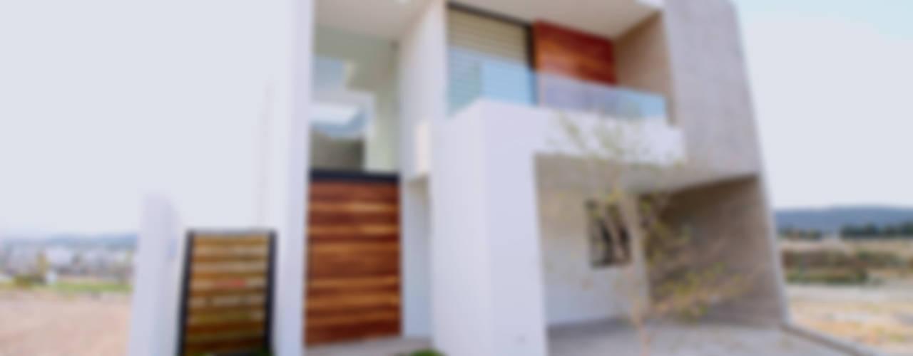 Fachada: Casas unifamiliares de estilo  por AFG Construcción y Diseño