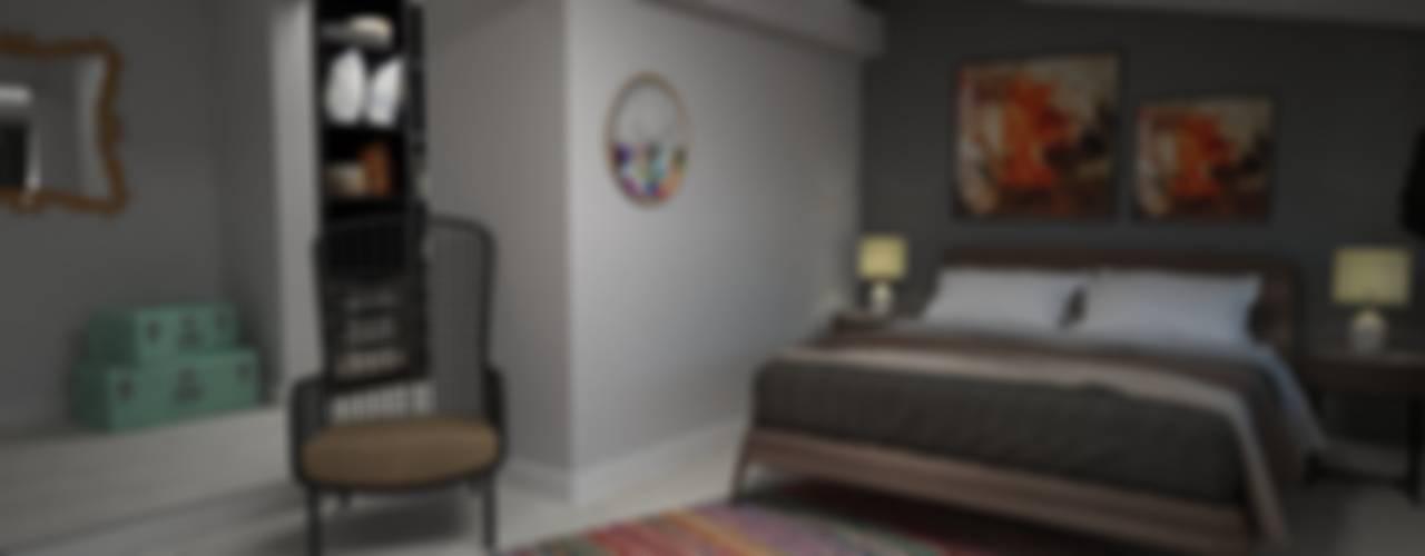Akay İç Mimarlık & Tasarım – Ahsen - Murat Evi :  tarz Yatak Odası