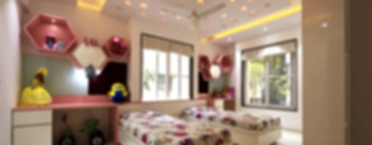 Mr. Shekhar Bedare's Residence:  Girls Bedroom by GREEN HAT STUDIO PVT LTD