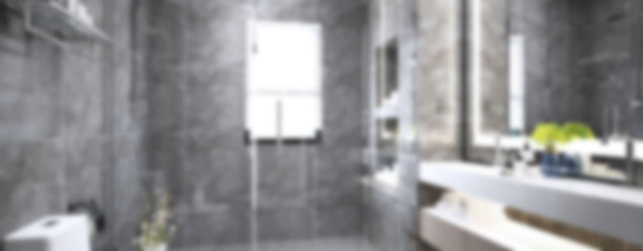 Semi-Detached Houses Design - Senibong Villa Johor,Malaysia Enrich Artlife & Interior Design Sdn Bhd Modern style bathrooms