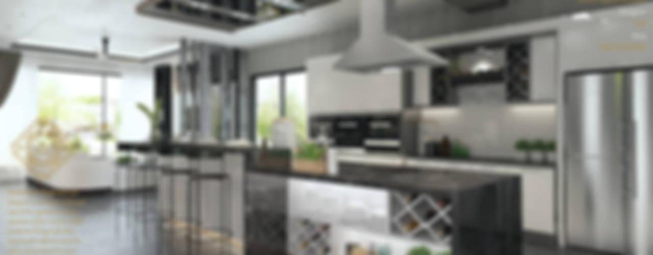 Semi Detached House - Austin Residence Johor Bahru,Malaysia Enrich Artlife & Interior Design Sdn Bhd Modern style kitchen Black