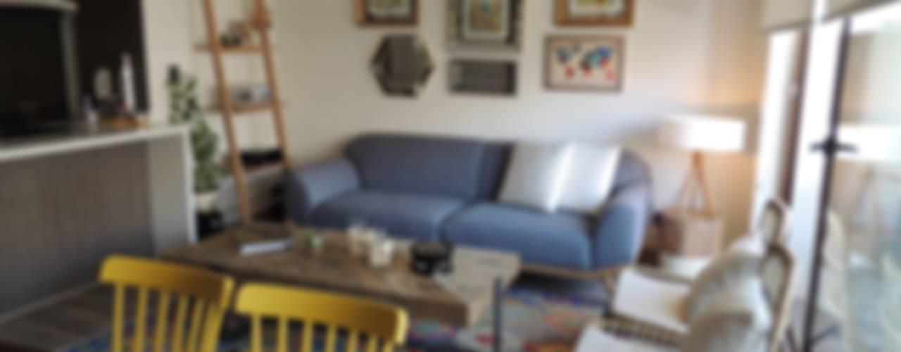 Diseño de Living Comedor por Kaa Interior Livings de estilo mediterráneo de Kaa Interior | Arquitectura de Interior | Santiago Mediterráneo