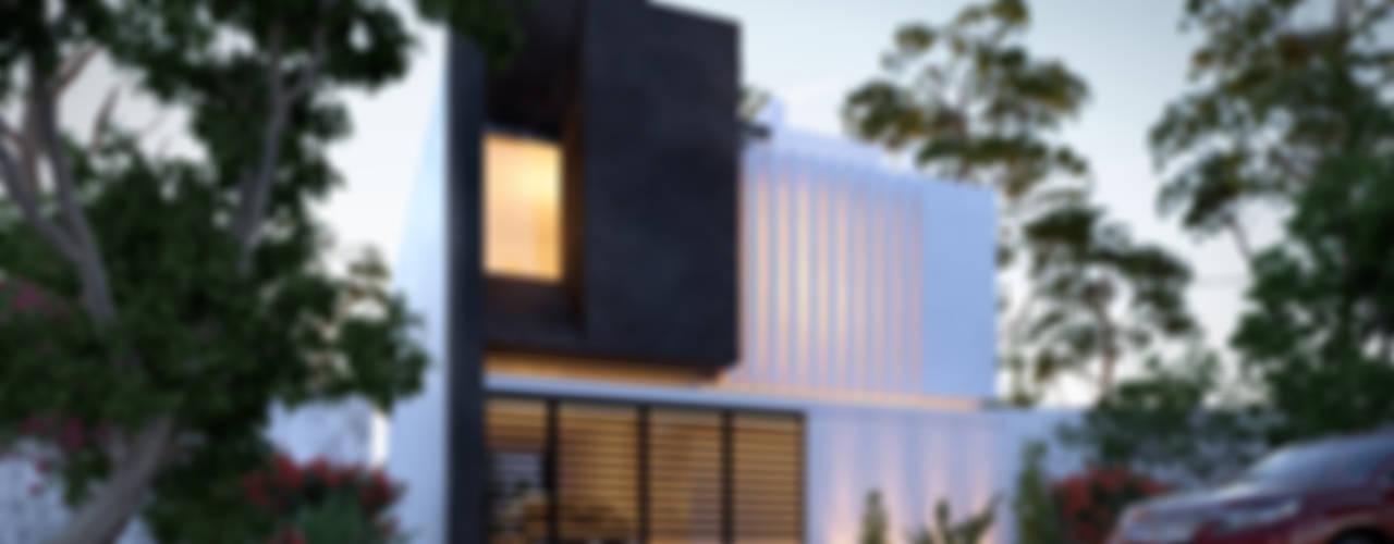 """RESIDENCIA """" LOMAS DEL VALLE"""": Casas de estilo  por 3h arquitectos"""