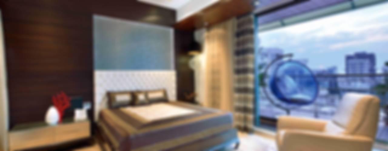 MADHUNIKETAN 10TH FLOOR:  Bedroom by smstudio
