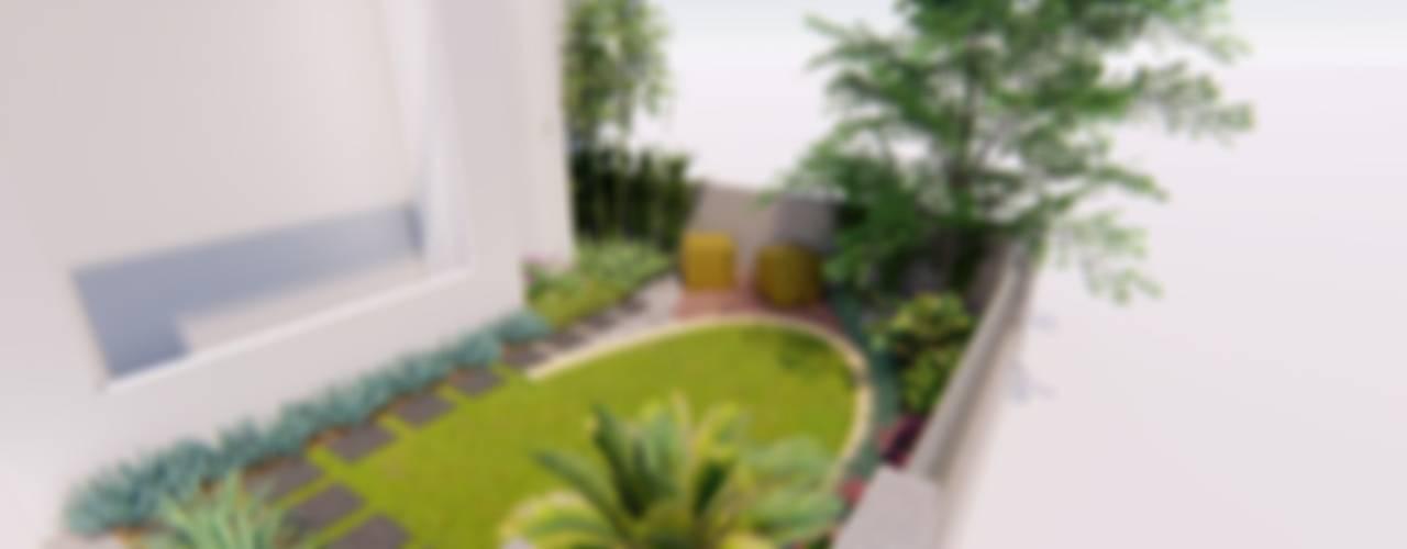 فناء أمامي تنفيذ 1mm studio | Landscape Design, إستوائي