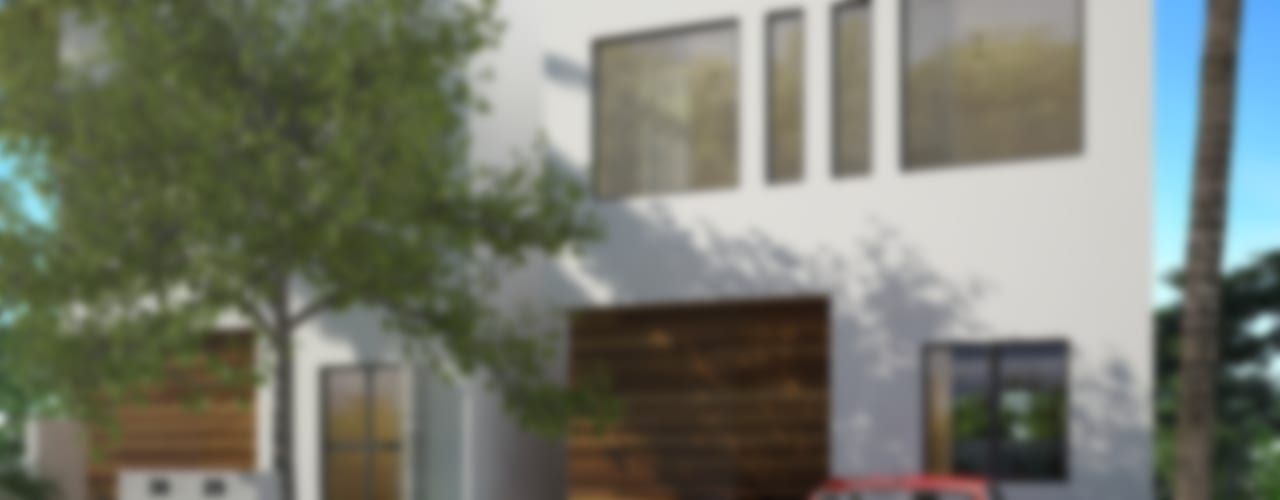 fachada principal:  de estilo  por studio arquitectura | Despacho de arquitectos | Cancún