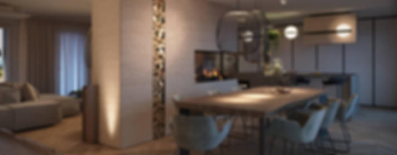 غرفة السفرة تنفيذ FRANCESCO CARDANO Interior designer