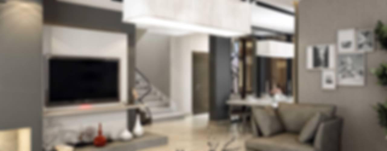 ANTE MİMARLIK  – Orkut E. Syphony Villa:  tarz Oturma Odası, Modern