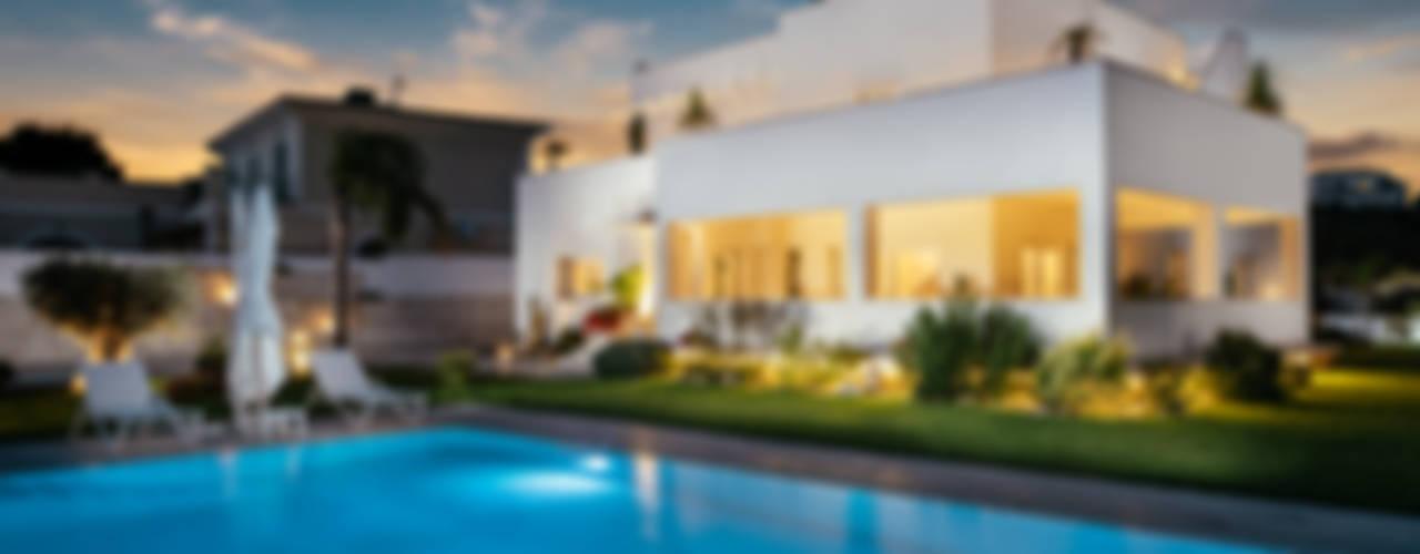Villa Passariello: Piscina in stile  di manuarino architettura design comunicazione