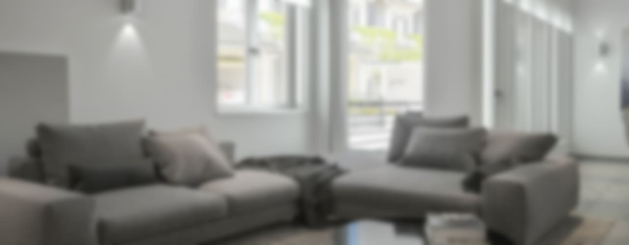 Ristrutturazione interni a Siracusa: Soggiorno in stile  di Santoro Design Render